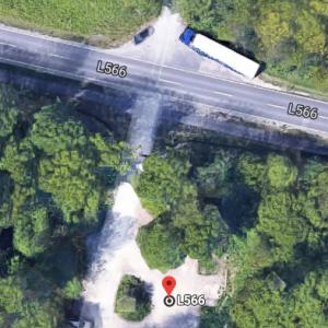 Waldparkplatz zwischen Ettlingen und Mörsch - L566